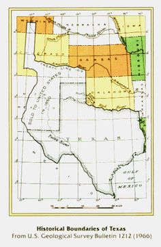 Historical Boundaries Of The Republic Of Texas