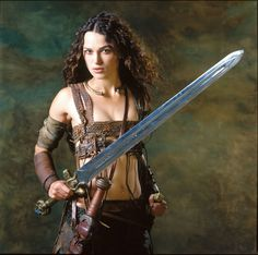 Princess of Thieves; note leather wrappings on arms as an alternative to sleeves....