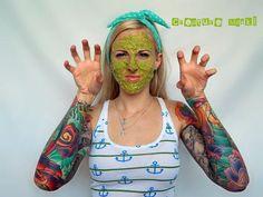 Tattooed Martha - Avocado and Egg White Face Mask (6) #AvocadoMask