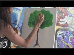 ▶ Painting With Acrylics : How to Paint Trees With Acrylics - YouTube