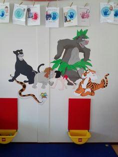Jungle book muurschildering bij peuterspeelzaal