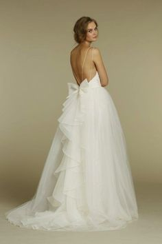 Bride Ideas - Wedding Planning with Preston Bailey | PrestonBailey.com Loveee the back of this dress!
