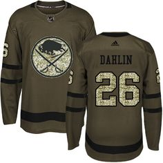f5c8ab142 Adidas Sabres  26 Rasmus Dahlin Green Salute to Service Stitched NHL Jersey  Nhl Hockey Jerseys