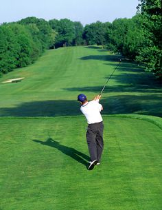 Rare photo of a left-hander driving off the tee...needs to fix his grip though.