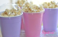 Could do these and just print out personalized stickers. Baby ShowerPopcorn Party Boxes16oz Party Cups by SignatureAvenue, $11.40
