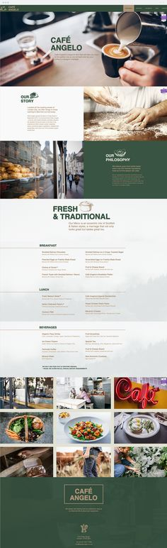 Cafe Angelo | Coffee Shop Website