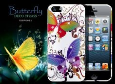 Coque iPhone 5 Butterfly Deco Strass