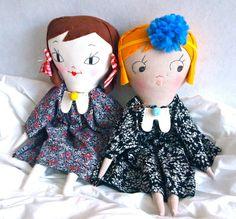 CHRISTMAS SALE Molly dolly rag doll heirloom by JessQuinnSmallArt