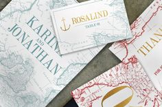 Vintage Map Wedding Invitation by KlapauciusCo on @creativemarket