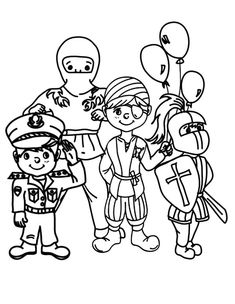 Carnival Costume Show Coloring Pages : Best Place to Color Coloring Pages For Boys, Colouring Pages, Kids Birthday Cards, Online Coloring, Carnival Costumes, Colour Images, Crafts For Kids, Comics, Fictional Characters