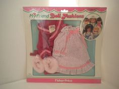 Fisher Price My Friend Doll Fashions 1984 Bedtime Outfit 232 Gown Robe Slippers #FisherPrice #ClothingAccessories