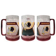 16Oz Crystal Freezer Mug NFL - Washington Redskins