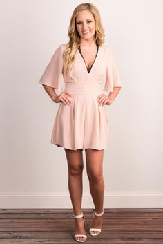 Pink Coconut Boutique | Say Yes To The Romper - Peach