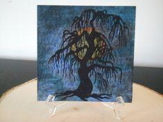 Dying willow in moon light by TsWorldOfArt on Etsy, $10.00