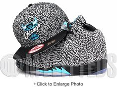 Chicago Bulls Windy City Elephant Print Black Teal Air Jordan V 3Lab5 New  Era Snapback Hat f247b21f49c