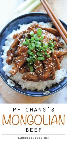 PF Chang's Mongolian Beef Copycat Recipe - This copycat recipe is so easy to make at home, and it tastes 10x better too!
