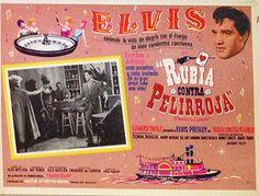 Rubia contra Peliroja = Frankie and Johnny = Mexico-lobby-card - Elvis Presley