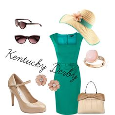 Kentucky Derby by ashlie-mcpherson on Polyvore featuring Coast, Steve Madden, Valentino, Astley Clarke, Tom Ford, H&M, horse races, summer, classic and kentuck derby
