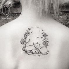 Snorlax & Totoro crossover tattoo by bicemsinik