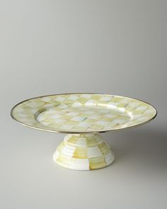 Parchment Check Cake Stand, Large w/Thick pedestal...not sure if this is any bigger than the other 2... no description anywhere. $100.00 at neimanmarcus.com, 9/27/15