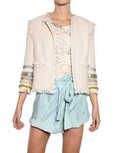 MSGM Embroidered Cotton Viscose Bouclè Jacket http://www.luisaviaroma.com/productid/itemcode/55I-M2F005