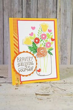 Amuse Studio Mason Jars and Be Brave stamp sets in the March Collection.