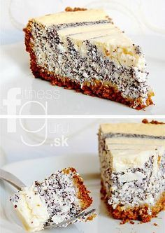 SVIEŽI MAKOVO-TVAROHOVÝ KOLÁČ Sweet Desserts, Sweet Recipes, Czech Recipes, Ethnic Recipes, Cookie Recipes, Catering, Sweet Tooth, Cheesecake, Food And Drink