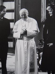 Prince Charles & Princess Diana visit the Vatican & meet with Pope John Paul II in Italy, 1985.