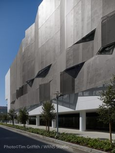 Mission Bay Block 27 Parking Structure by WRNS Studio. Undulating #PerforatedMetal screen wall.
