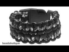 How to Make a Wide (Double) Cobra Paracord Bracelet by Beadaholique via Eva Maria Keiser.