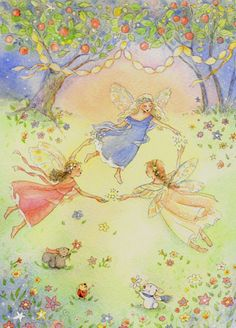 art by becky kelly images | Fairy Circle Card w/ Tattoo : Becky Kelly Shop