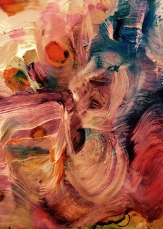 Abstract painting by Shirley Johnson. Alcohol ink  and acrylic paint on paper
