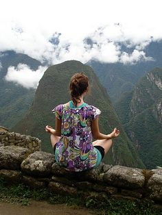 Meditation at Machu Pichu , I would so love to do this. Maybe for my birthday.