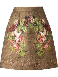 Patterned Floral Print Skirt