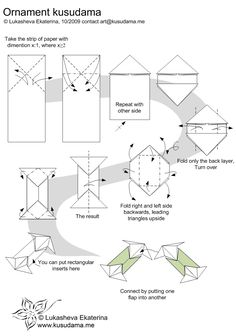 Diagram for Ornament kusudama