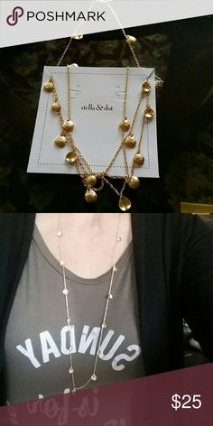 Stella and Dot - Demi Layering Necklace Gold delicate layering necklace Stella & Dot Jewelry Necklaces
