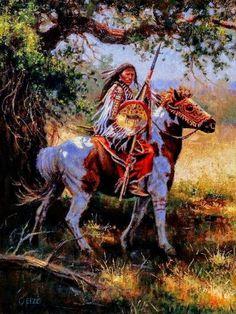 Blackfeet Strength by Dan Oelze kK Native American Horses, Native American Warrior, Native American Paintings, Native American Pictures, Native American Symbols, Native American Beauty, Native American Artists, American Indian Art, Native American History