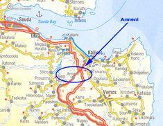 Map of Crete, showing Armeni - Google Search Crete, Cemetery, Map, Google Search, Location Map, Peta, Maps
