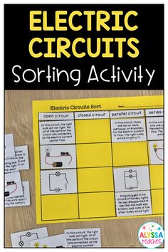 Differentiating among the various kinds of electric circuits is easy and fun for students with this Fourth Grade Science, Middle School Science, Elementary Science, Science Classroom, Teaching Science, Science Education, Science For Kids, Earth Science, 5th Grade Science Projects