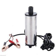 Bomba Sumergible de Acero Inoxidable para Autocaravana, Coche, Camión - Agua, Combustible, Diesel - 12V - 482107: Amazon.es: Bricolaje y herramientas