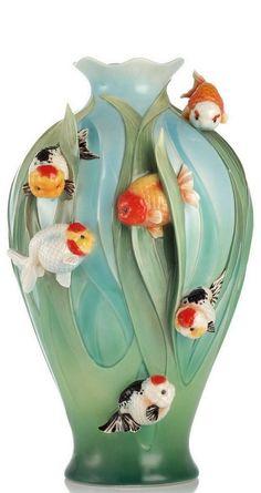 FZ03090 Franz Porcelain FERTILITY AND ABUNDANCE Large vase new special order