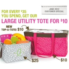 Thirty-One June Special! Anyone interested in booking a party! Large Utility Tote, Good Deeds, Thirty One Gifts, Get One, Have Time, Happy Shopping, First Love, Lunch Box, Converse