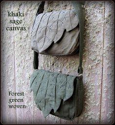 Leaf Bag Purse Messenger School Book Bag door TalismanaDesigns