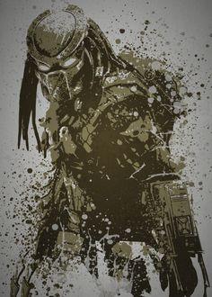 prints on steel Movies & TV predator alien splatter movie pop culture Alien Vs Predator, Predator Alien, Predator Tattoo, Man In Black, Pop Culture Art, Monster Art, Mo S, Cultura Pop, Street Fighter
