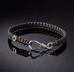 Hook Macrame Bracelet - Grey More