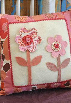 Whimsical Flower Pillow
