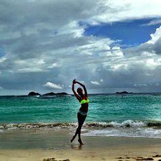 Magdalena Frąckowiak na planie sesji do katalogu Victoria's Secret na wyspie St Barthes, fot. Instagram