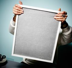 Step 5 of how to make a soundproof wall: A ready-to-go soundproofed photo frame.