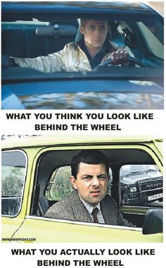 everyone wishes they could look as wonderful as mr.bean does behind the wheel.