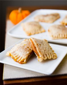 Pumpkin Pie Pockets with Vanilla Glaze